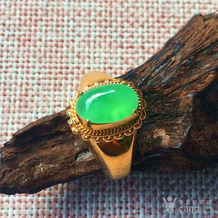 竞猜:天然阳绿翡翠戒指配送证书图1-在线竞猜-图片|图库|价格