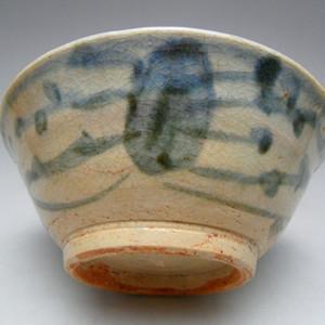 44.明代 空白期青花水藻纹碗