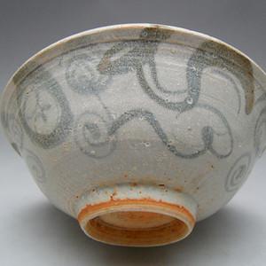 45.明代 空白期青花水藻纹碗