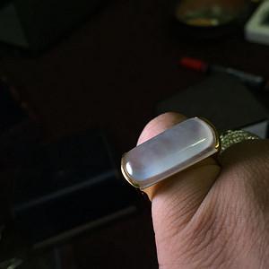 18k金豪华拌钻镶嵌高冰翡翠戒指配送证书