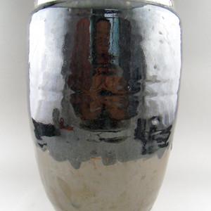 64.清代 磁州窑书卷大筒瓶