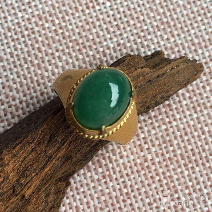 天然满绿翡翠戒指配送证书