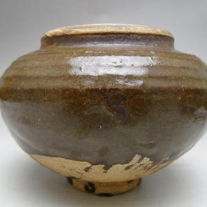 89.元代 酱釉钵式炉
