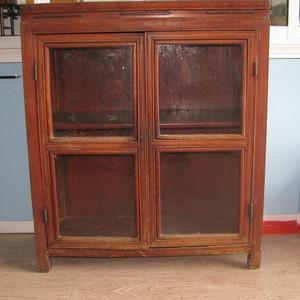 少见榉木古董柜书柜