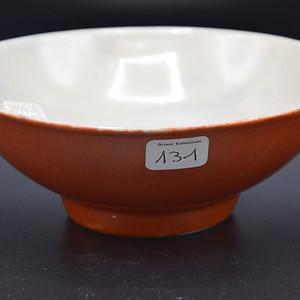 民国珊瑚红瓷碗