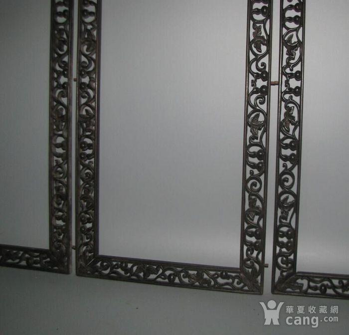 红酸枝雕刻画框一套图7