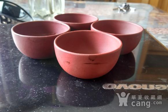 中国宜兴款紫砂杯四个图4