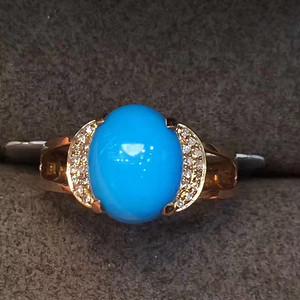天然蓝松石戒指