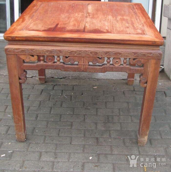 原装红榉雕花八仙桌 上场买家没有付,重新拍图4