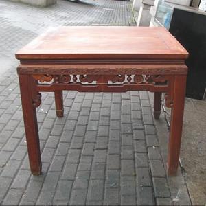 原装红榉雕花八仙桌 上场买家没有付,重新拍
