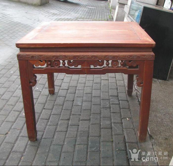 原装红榉雕花八仙桌 上场买家没有付,重新拍图1