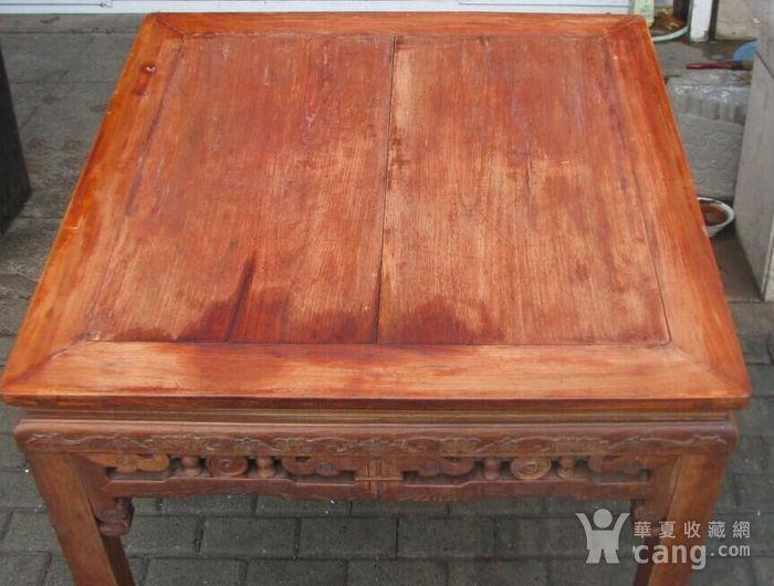 原装红榉雕花八仙桌 上场买家没有付,重新拍图3