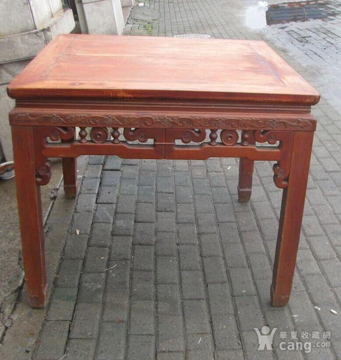 原装红榉雕花八仙桌 上场买家没有付,重新拍图2