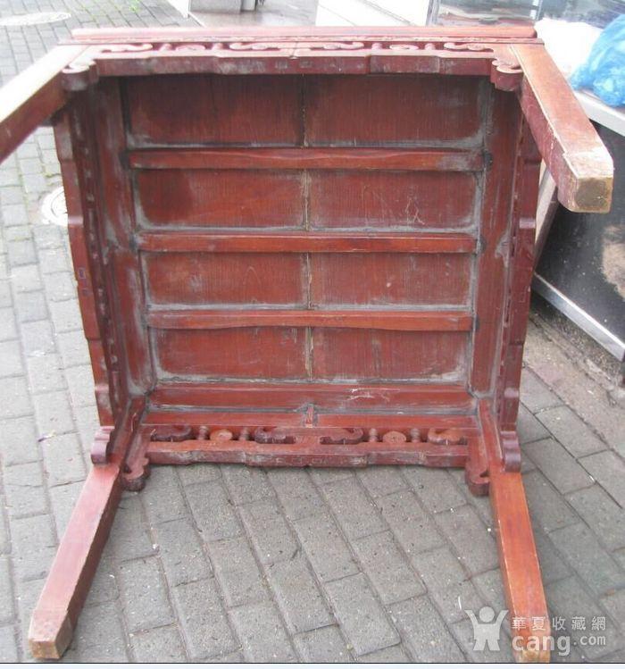 原装红榉雕花八仙桌 上场买家没有付,重新拍图9