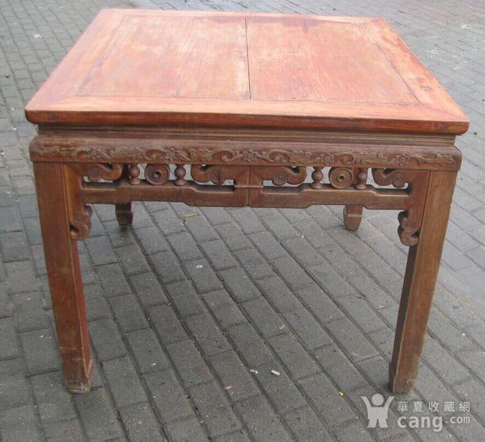 原装红榉雕花八仙桌 上场买家没有付,重新拍图8