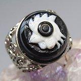 天然玛瑙 巧雕 吉祥如意 戒面戒指