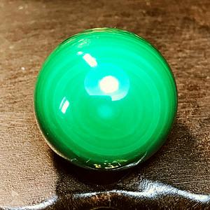 孔雀石大珠!纯天然原矿无优化孔雀石漂亮眼睛纹18MM大圆珠