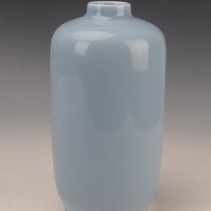 欧洲回流天蓝釉灯笼瓶
