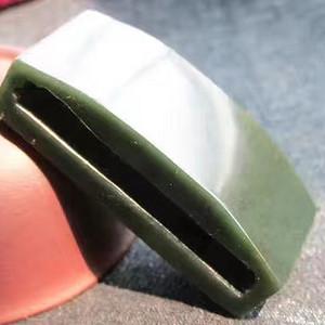 和田青碧 腰带扣 包浆老道 玉质极其细腻 高密