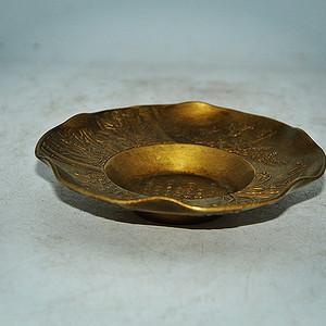 日本回流铸铜茶托