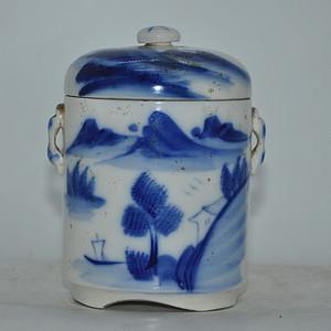 民国青花瓷罐