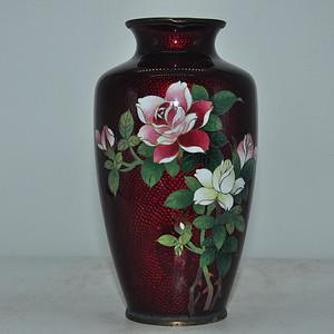 日本七宝烧花瓶有磕碰
