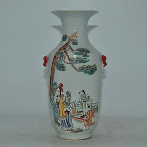 80年代厂货人物粉彩瓷瓶