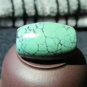 有些年头 原矿 高瓷 无优化 乌兰花 松石