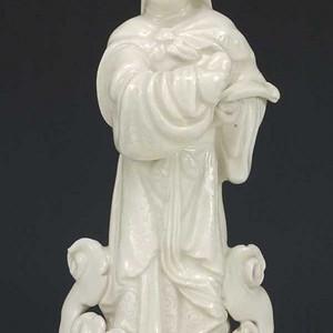 清代 德化窑白釉  金成  瓷塑   大摆件