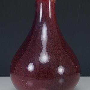 清  郎窑红 天球瓶