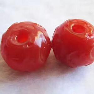 葵口 莲瓣纹 满红 玛瑙对珠 包浆老道 皮壳熟润