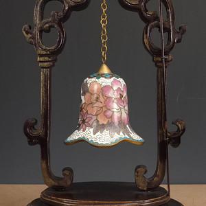 美国回流 民国  铜胎掐丝珐琅 花绘纹  挂铃