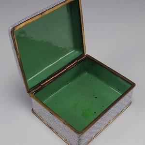 民国   铜胎掐丝珐琅 花绘纹 叶茶盒