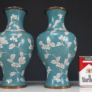 清代   铜胎掐丝珐琅  橄榄瓶