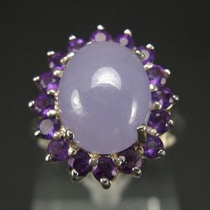 国外回流 925银镶嵌 天然紫色翡翠 戒指