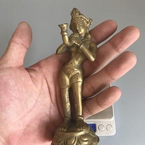 黄铜老佛像一尊