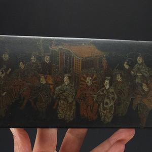 明代  日本漆器朱沙金粉 文房盒