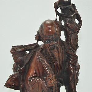民国老寿星木雕