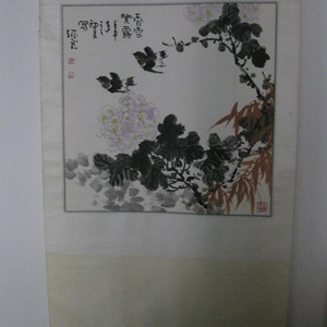 山东著名画家王炳龙先生花鸟。斗方