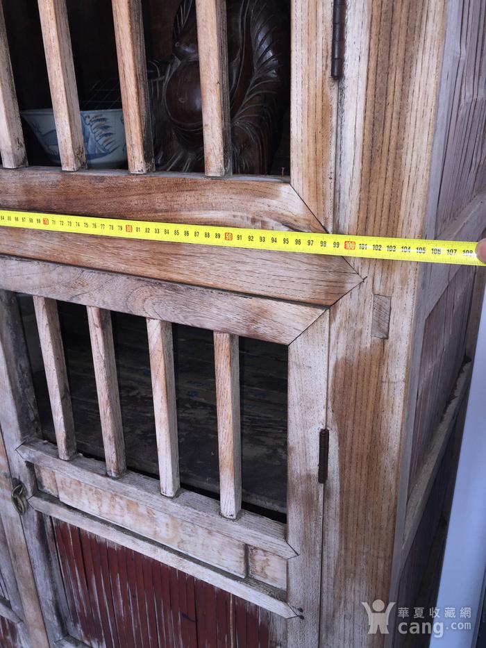 清代 榉木嵌竹书柜图4