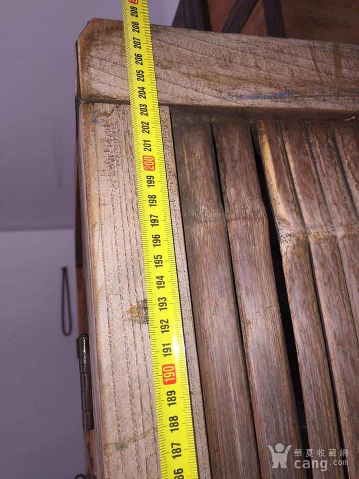 清代 榉木嵌竹书柜图7