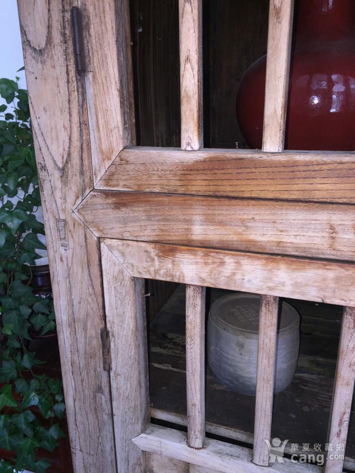 清代 榉木嵌竹书柜图9