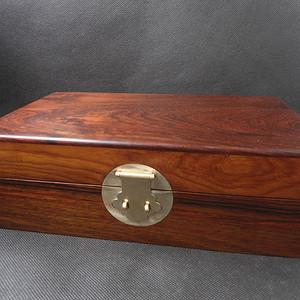 大红酸枝木 小书箱盒