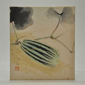 日本画西瓜图