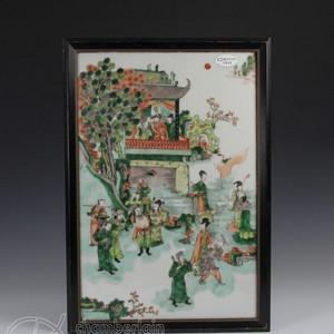 清五彩八仙瓷版画