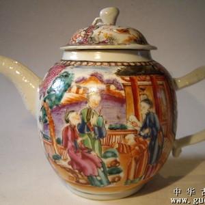 乾隆广彩茶壶
