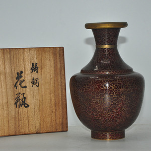 日本铜胎烧珐琅花瓶