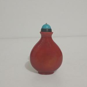 联盟五十年代红料老琉璃鼻烟壶