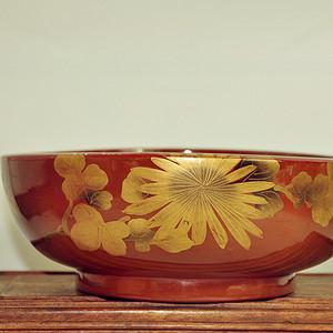 日本漆器大木碗