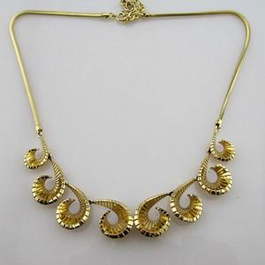 彩金欧式一体项链